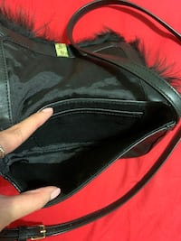 Black side purse
