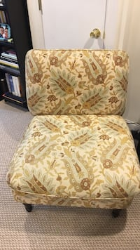 Yellow patterned chair