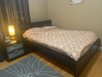 IKEA Full Size Bed set with side table