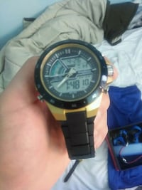 round black and gray digital watch with black strap Burnaby, V3N 4A7