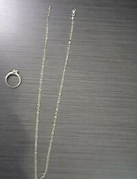 Gold necklace and ring Maple Ridge, V2X 2Z3