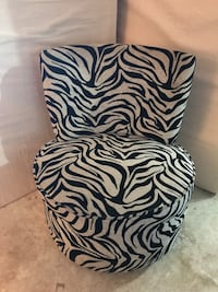 Silver/black Zebra Swivel Chair