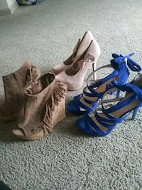 Heels and Wedges!! Size 10 $15.00 each or all 3 for $35.00 Atlanta, 30310