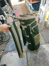 Dark green golf bag lots of compartments and strap Boynton Beach, 33426