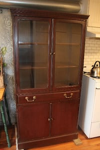 Walnut China Cabinet or Display Cabinet TORONTO