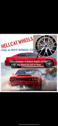 "22"" inch hellcat wheels and tires package deal Sterling Heights, 48310"