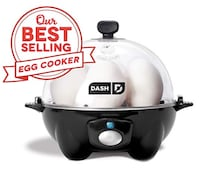 Dash Rapid Egg Cooker: 6 Egg Capacity Electric Egg Cooker for Hard Boiled Eggs, Poached Eggs, Scrambled Eggs, or Omelets with Auto Shut Off Feature - Black Jersey City
