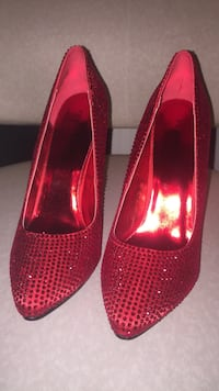 Pair of red stilettos