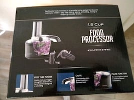 ovente food processor new unopened box