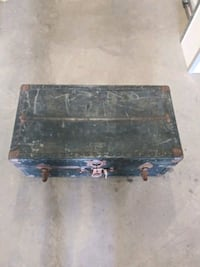 ANTIQUE TREASURE CHEST TRUNK