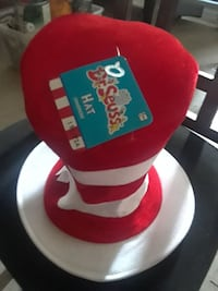 red and white Dr. Seuss top hat Albuquerque, 87108