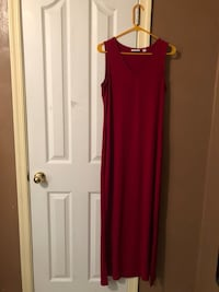 Lady's Red Maxi Dress