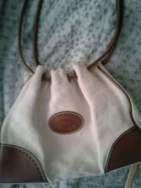 Tommy Hilfiger white and brown  handbag
