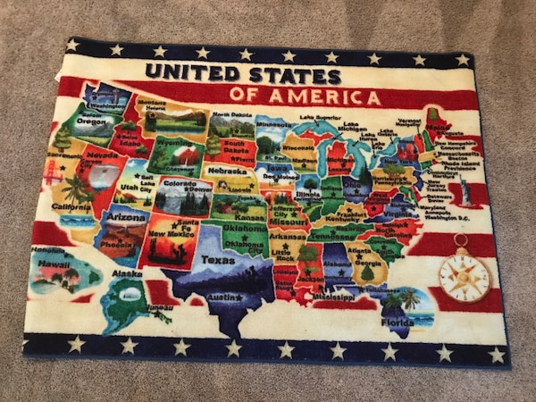 Used United States Map Rug For Sale In Dallas Letgo