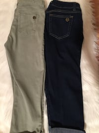 two gray and black denim jeans Port Saint Lucie, 34953