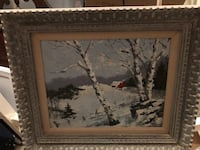 black wooden framed painting of trees Mount Airy, 21771