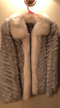 gray and white fur coat Candia, 03034
