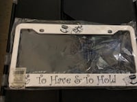 Wedding To Have And To Hold Car License Plate Frame Temple City, 91780