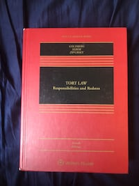 Tort Law Textbook Goldberg Fourth Edition slightly used good Los Angeles, 90026