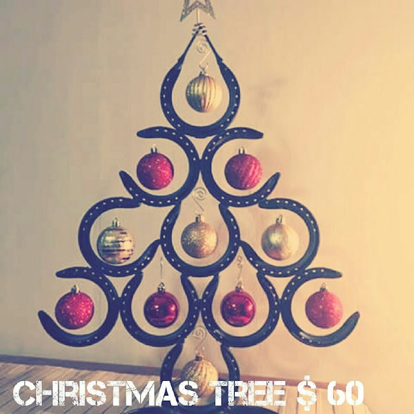 Horseshoe Christmas Tree For Sale.Handmade Horseshoe Christmas Tree