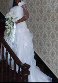 Women's white tube top bridal gown Hagerstown, 21783