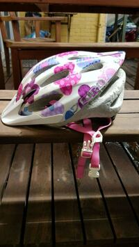 white and pink floral bicycle helmet Montreal