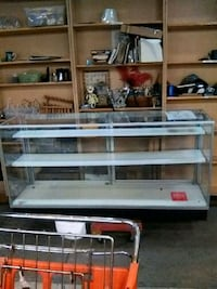 gray metal framed glass display counter Morrisville, 19067