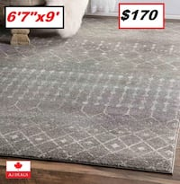 "AJ - BRAND NEW - Clair Dark Grey Area Rug 6'7""x9' Mississauga"