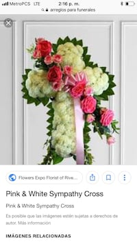 green and pink flower bouquet screenshot Cypress, 90630