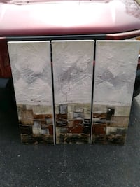Far east collection 3 panel wall painting new
