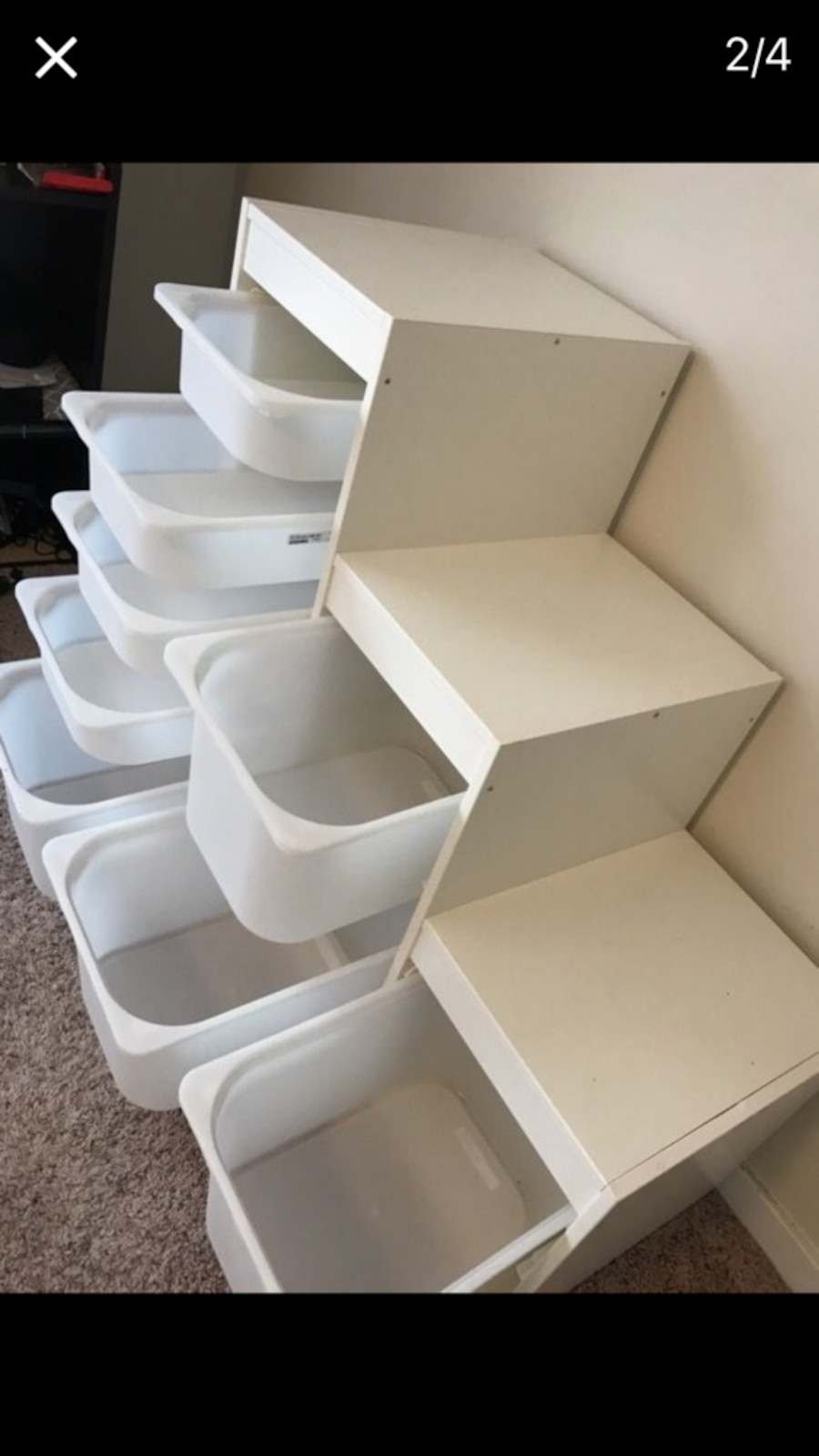 Children's cupboard with 8 movable boxess - MS