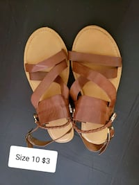 pair of brown leather open-toe sandals Saint Cloud, 34769