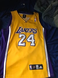 Yellow and purple lakers 24 jersey