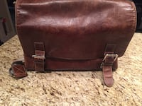 """Brown leather messenger bag - can fit up to 21"""" laptop Richmond, V6W"""