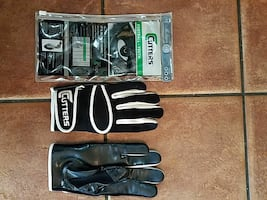 Football receiver gloves, youth