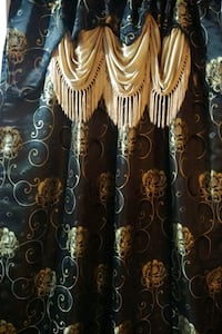 Fancy Blackout Curtains with Valence - 2 panel Mississauga, L5R