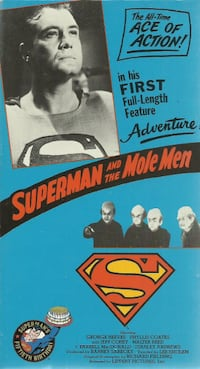 vhs Superman and the Mole People George Reeves EUC  (ref # vhs1 - shel