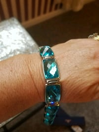 silver-colored and blue gemstone bracelet 176 mi