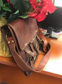 Brand new  genuine leather messenger bags satchel business bag