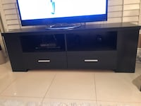 Black wooden tv stand Mississauga, L5R 1Y1