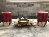 Fall scented candles and candle holder  Toronto, M3M 2R4