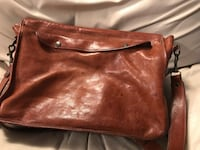 Genuine Italian Bookbag, leather inside  Beautiful excellent condition.