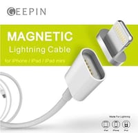 Apple Lightning to USB Magnetic Cable Charging Indicator Light Geepin 3.3ft
