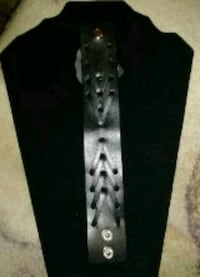 black and gray floral necktie 323 mi