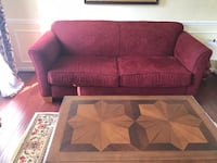 3 peace Burgundy sofa set in excellent condition Bensville, 20603