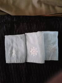 NOW $8 from $10 for ALL 3 ** NEW - GREAT HOSTESS GIFT * 3 Blue Washcloths