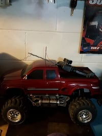 red monster truck toy