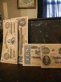 1800s safe deposit box and Confederate money from 1862-1864 make offer