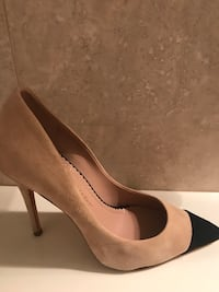 Tan and Black Suede Stilettos Coral Gables, 33155