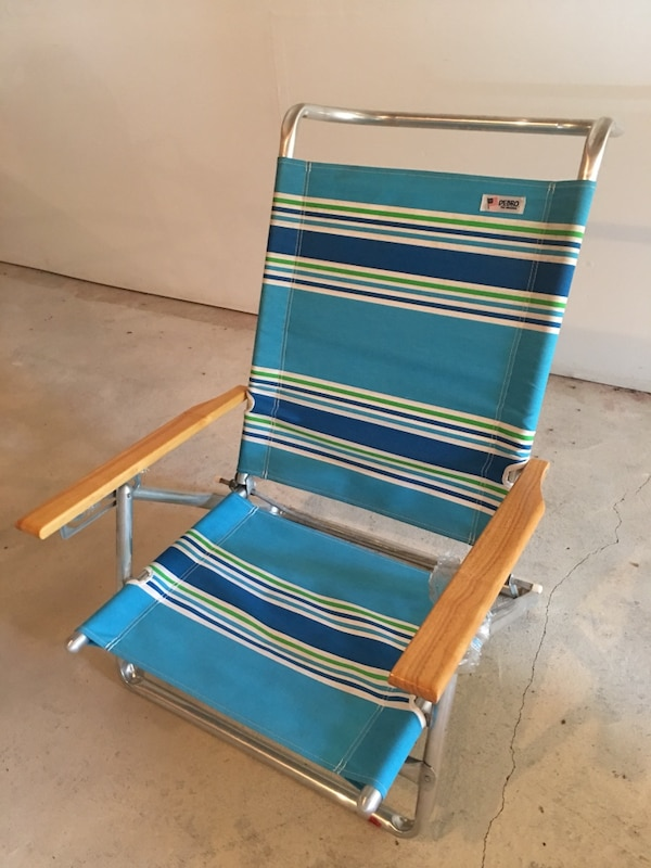 Miraculous Debro Blue White Striped Cloth Folding Beach Chair Caraccident5 Cool Chair Designs And Ideas Caraccident5Info